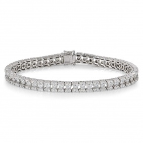 White Gold Diamond Line Bracelet 5.50ct